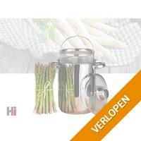 Zeer mooie en praktische aspergepan -  Met handige inzetmand
