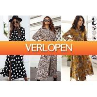 VoucherVandaag.nl: Printed maxi jurk