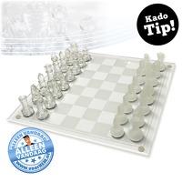 Bekijk de deal van voorHEM.nl: Chic glazen schaakspel
