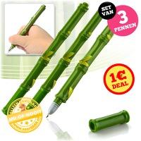 Bekijk de deal van voorHAAR.nl: 3 x bamboe pennen