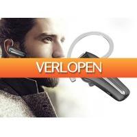 DealDonkey.com 4: Fedec draadloze Bluetooth headset met microfoon Q5S - Sterke Accu - Opneemknop - zwart