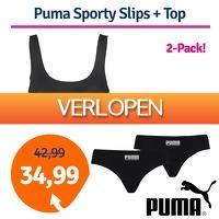 1dagactie.nl: Puma Women Sporty Slips + Top Black