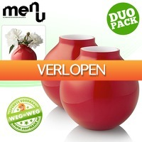 voorHAAR.nl: 2 x Menu glazen vaas