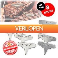 voorHAAR.nl: Set van 8 Meat Markers