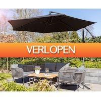 Voordeelvanger.nl: Luxe XXL zweefparasol 3 meter