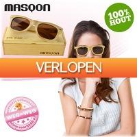 voorHAAR.nl: Stijlvolle houten Masqon zonnebril