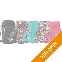Telefoontasje met rits in verschillende kleuren