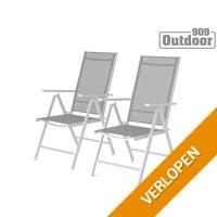 2x 909 Outdoor aluminium tuinstoel