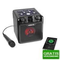 Bekijk de deal van MaxiAxi.com: Vonyx SBS50B-DRUM Karaoke set met microfoon