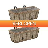 VidaXL.nl: 2 x vidaXL wicker balkonbakken