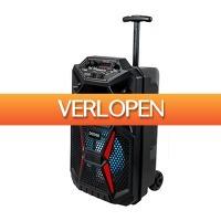 Koopjedeal.nl 1: Draadloos oplaadbare trolley speaker