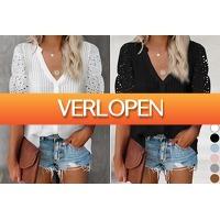 VoucherVandaag.nl: Broderie blouse dames