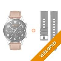 Huawei Watch GT 2 zilver/bruin