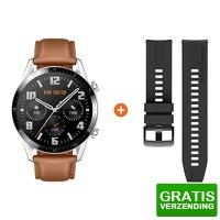 Bekijk de deal van Coolblue.nl 3: Huawei Watch GT 2 zilver/bruin