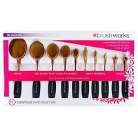 Bekijk de deal van Voordeeldrogisterij.nl: Brush Works Oval Brush Set Luxurious - 10 stuks