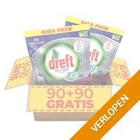 180 x Dreft vaatwastabletten Regulier of Citroen