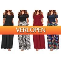 VoucherVandaag.nl: Cold shoulder maxi jurk