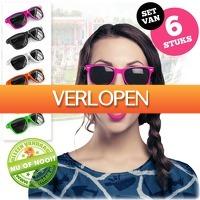 voorHAAR.nl: Set van 6 gekleurde zonnebrillen