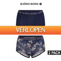 Elkedagietsleuks Ladies: 2 x Bjorn Borg dames boxershorts