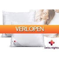 VoucherVandaag.nl 2: Set van 2 Swiss Nights zijden kussens