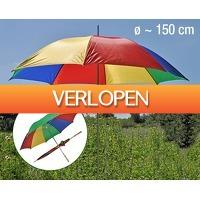 Voordeeldrogisterij.nl: Premium paraplu/parasol 2 In 1