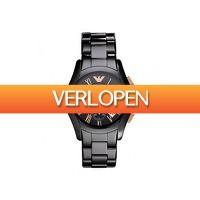 Watch2day.nl: Emporio Armani Ceramica Valente AR1410 Heren Horloge 42mm 5 ATM