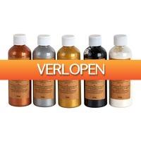 Xenos.nl: Pouring paint metallic