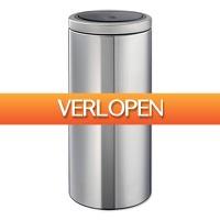 Blokker: Brabantia Touch Bin Flat Top afvalemmer 30 liter