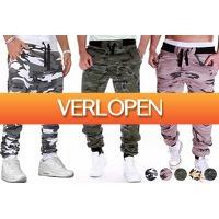 VoucherVandaag.nl 2: Joggingbroek met camouflageprint