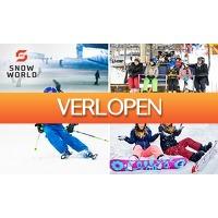 SocialDeal.nl: Skien of snowboarden (4 uur) bij SnowWorld