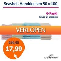 1dagactie.nl: 6 x Seashell handdoeken 50 x 100 cm