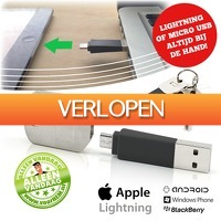 voorHEM.nl: Lightning of micro USB-sleutelhanger