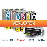 Voordeelvanger.nl 2: 2 x cartridge set Voor HP, Epson, Brother & Canon printers
