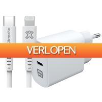 Coolblue.nl 1: XtremeMac Power Delivery Oplader 20W + Lightning Kabel 1,5 m Kunststof wit