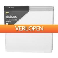 Xenos.nl: Schildersdoek canvas - 20 x 20 cm - set van 3