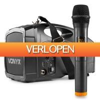 MaxiAxi.com: Vonyx ST014 draagbaar PA systeem met draadloze handmicrofoon