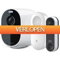 iBOOD Electronics: Arlo Essential Wireless Video Deurbel met Gong & Spotlight Camera
