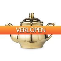 Xenos.nl: Theepot shiny gold
