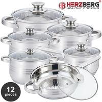 Bekijk de deal van Elkedagietsleuks Ladies: Herzberg 12-delige pannenset