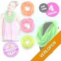 4 x neon gekleurde sjaal