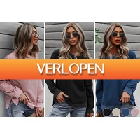 VoucherVandaag.nl: Casual longsleeve voor dames