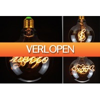 VoucherVandaag.nl: LED-gloeilamp E27 met tekst of figuren
