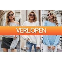 VoucherVandaag.nl: Gebreide trui met hartjes dames