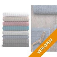 6 x Pure4u Onda handdoeken of badlakens