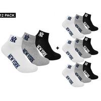 Bekijk de deal van Avantisport.nl: New York Yankees 12-pack Quarter socks