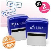 Bekijk de deal van voorHAAR.nl: Like en Dislike stempel