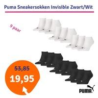 Bekijk de deal van 1dagactie.nl: Puma Sneakersokken Invisible zwart
