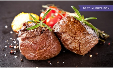 Groupon: Chateaubriand bij Brooklyn