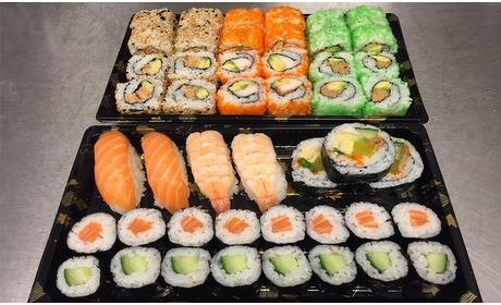 Groupon: Sushi-afhaalbox 47 of 94 stuks