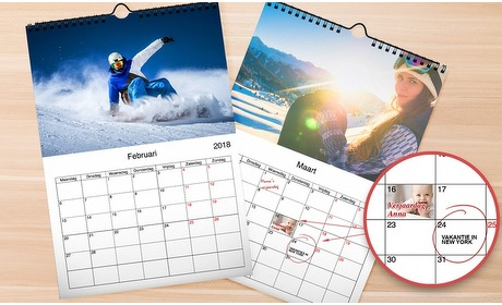 Groupon: Gepersonaliseerde fotokalender